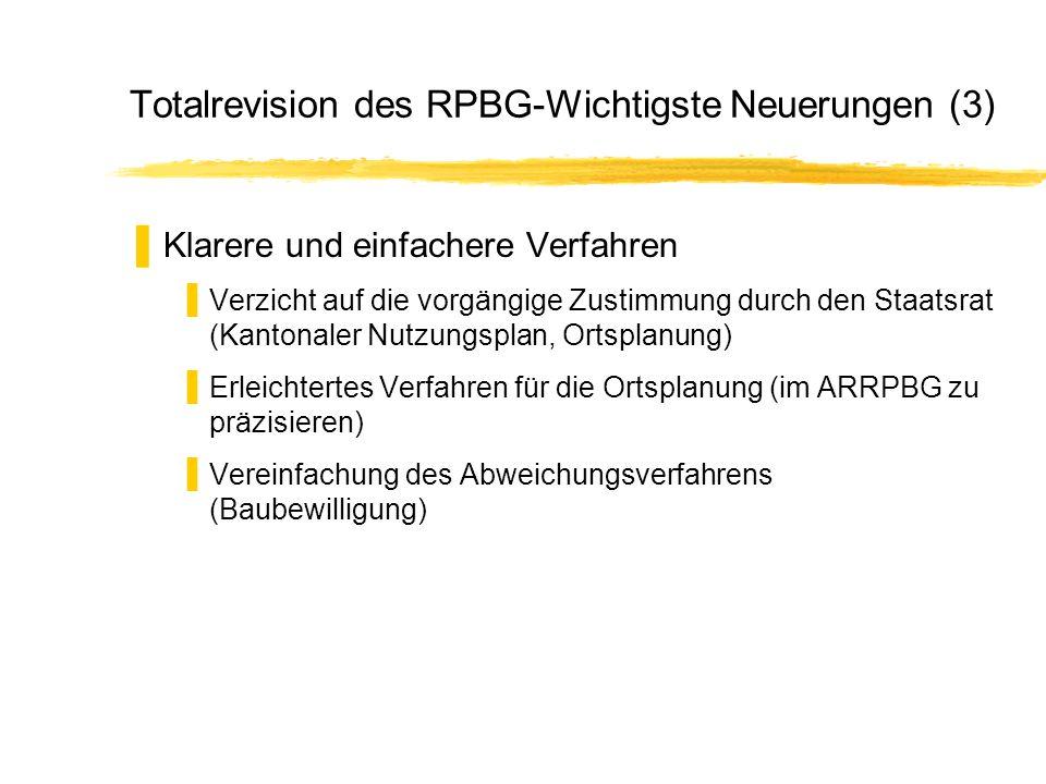 Totalrevision des RPBG-Wichtigste Neuerungen (3)