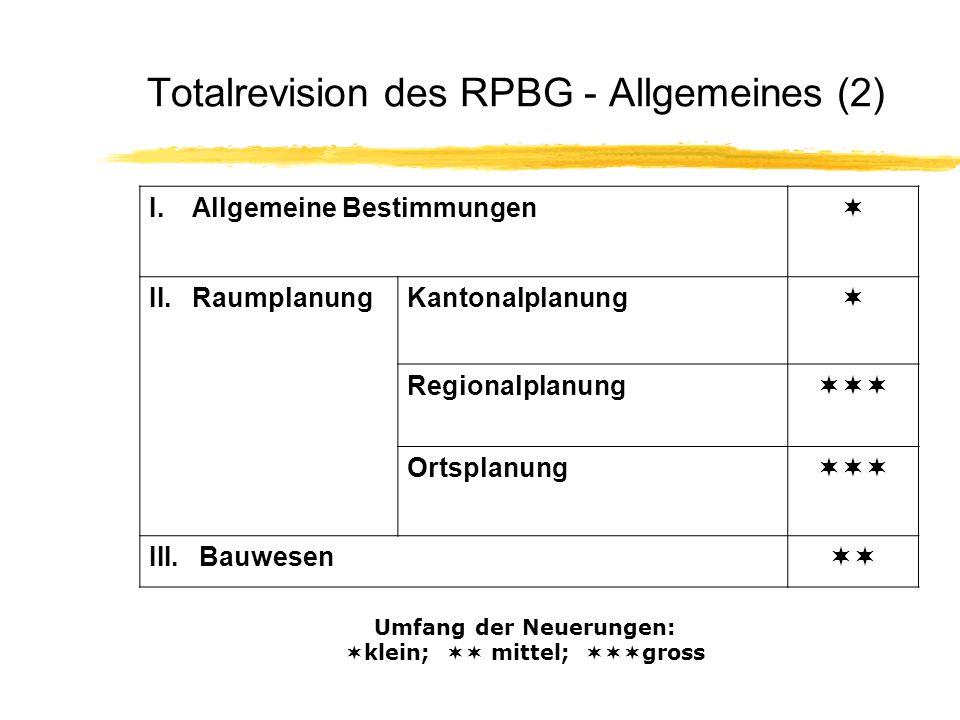 Totalrevision des RPBG - Allgemeines (2)