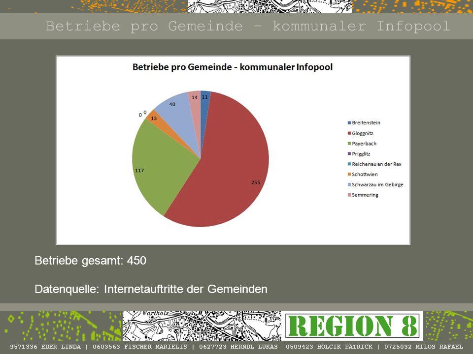 Betriebe pro Gemeinde – kommunaler Infopool