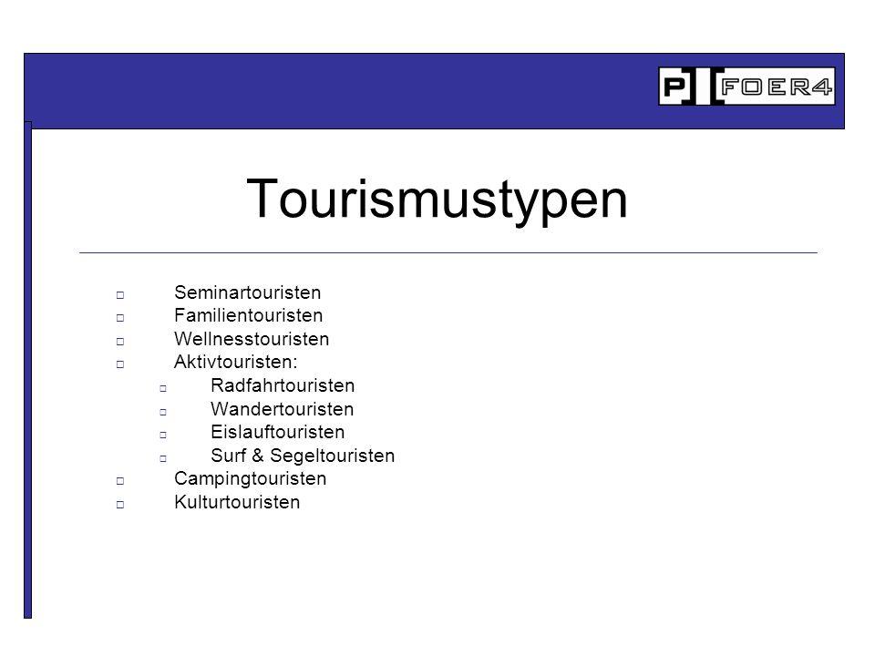 Tourismustypen Seminartouristen Familientouristen Wellnesstouristen