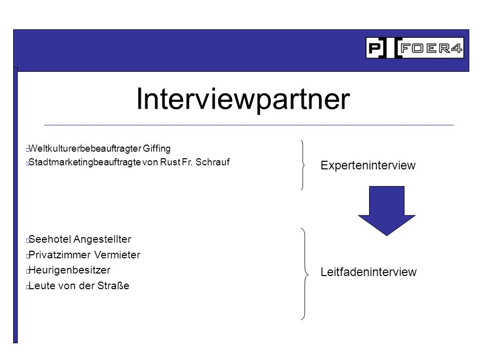 Interviewpartner Experteninterview Leitfadeninterview