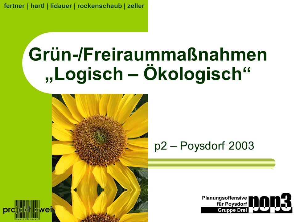"""Grün-/Freiraummaßnahmen """"Logisch – Ökologisch"""