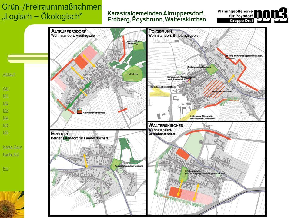 Katastralgemeinden Altruppersdorf, Erdberg, Poysbrunn, Walterskirchen