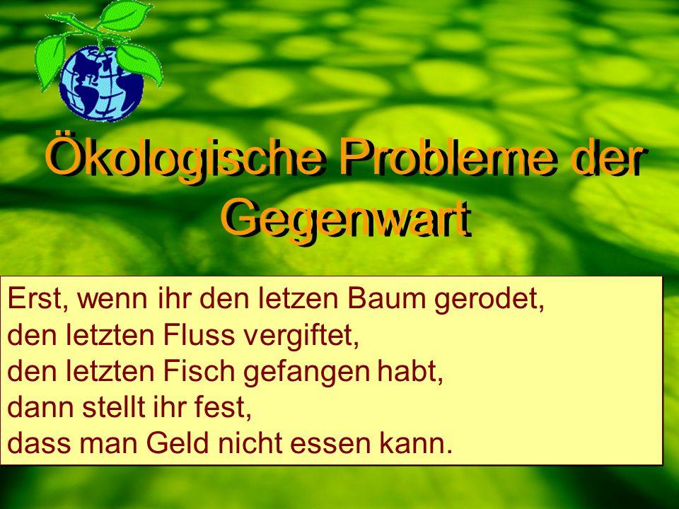 Ökologische Probleme der Gegenwart