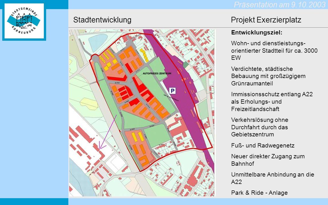 Stadtentwicklung Projekt Exerzierplatz
