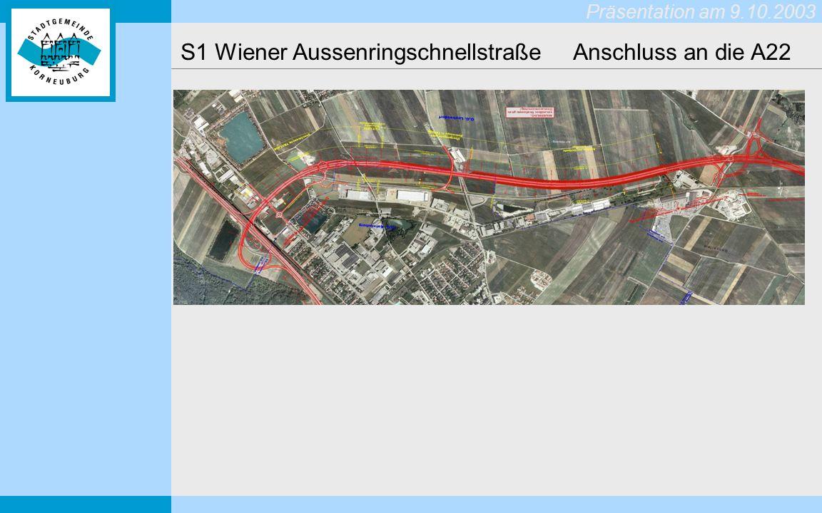 S1 Wiener Aussenringschnellstraße Anschluss an die A22