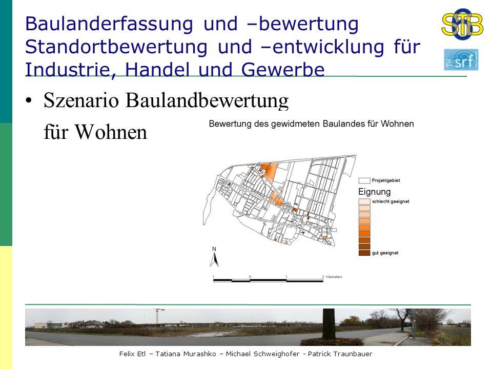 Szenario Baulandbewertung für Wohnen
