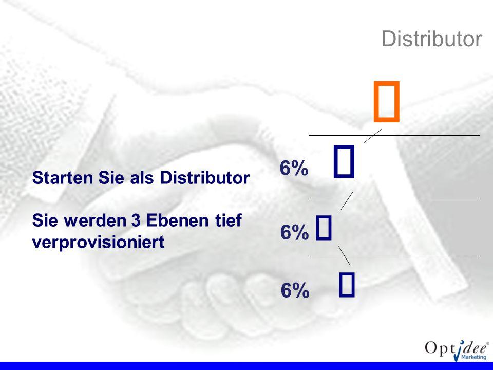 € €   Distributor 6% 6% 6% Starten Sie als Distributor