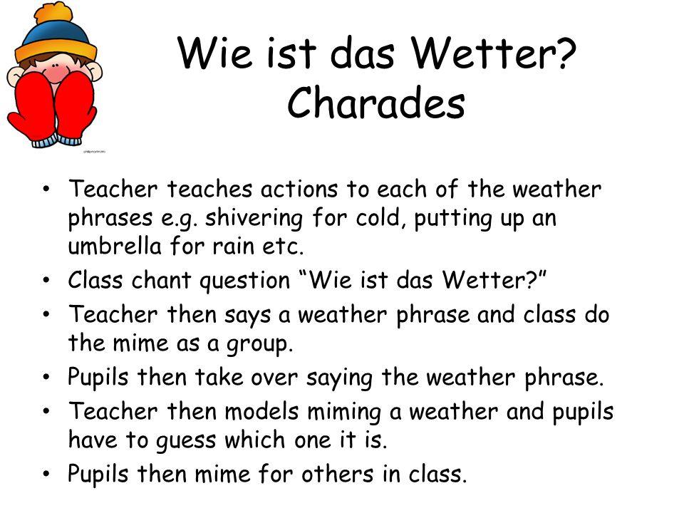 Wie ist das Wetter Charades