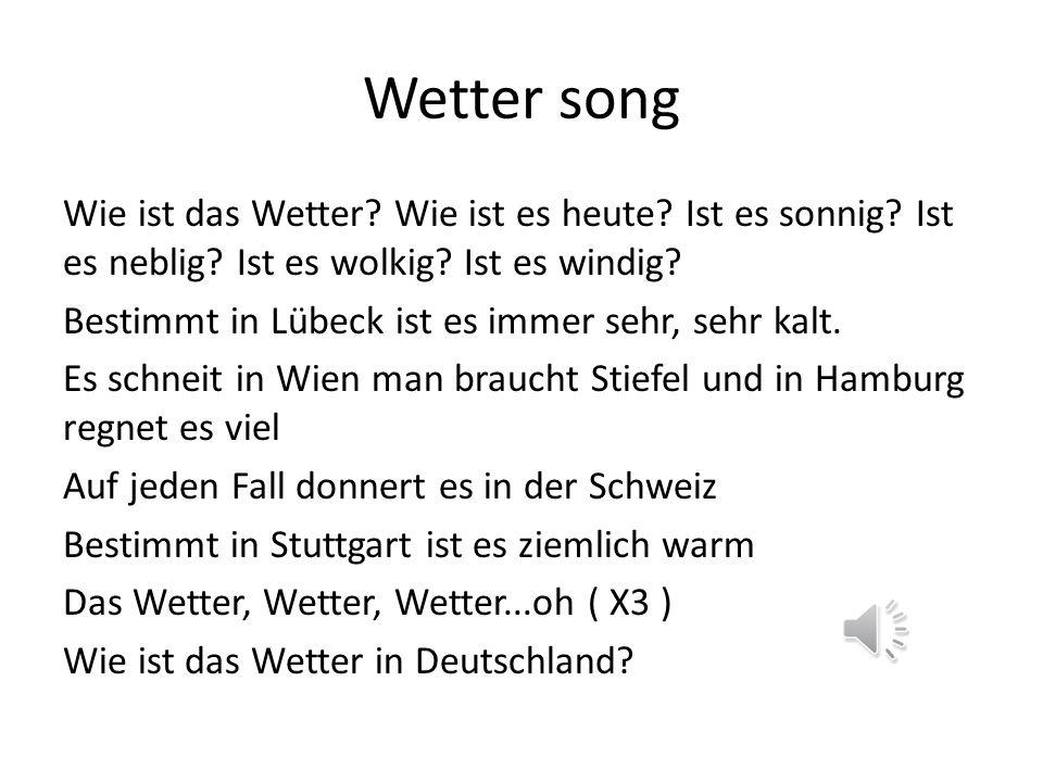 Wetter song