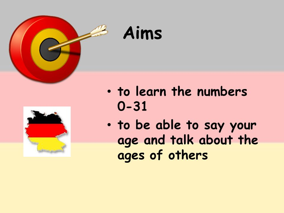Aims to learn the numbers 0-31