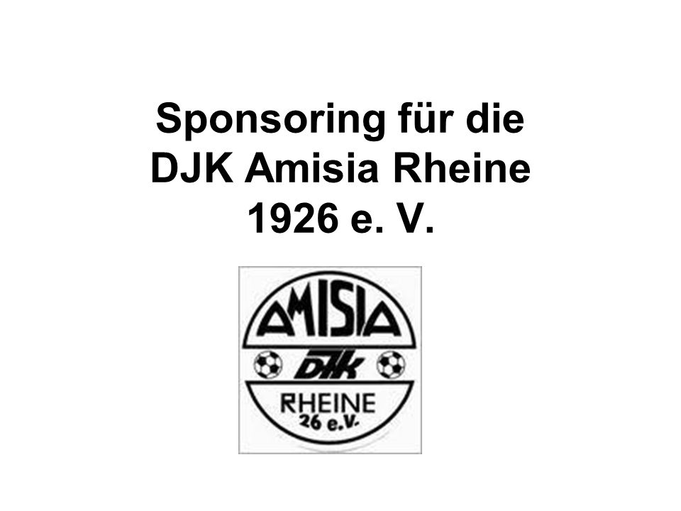 Sponsoring für die DJK Amisia Rheine 1926 e. V.
