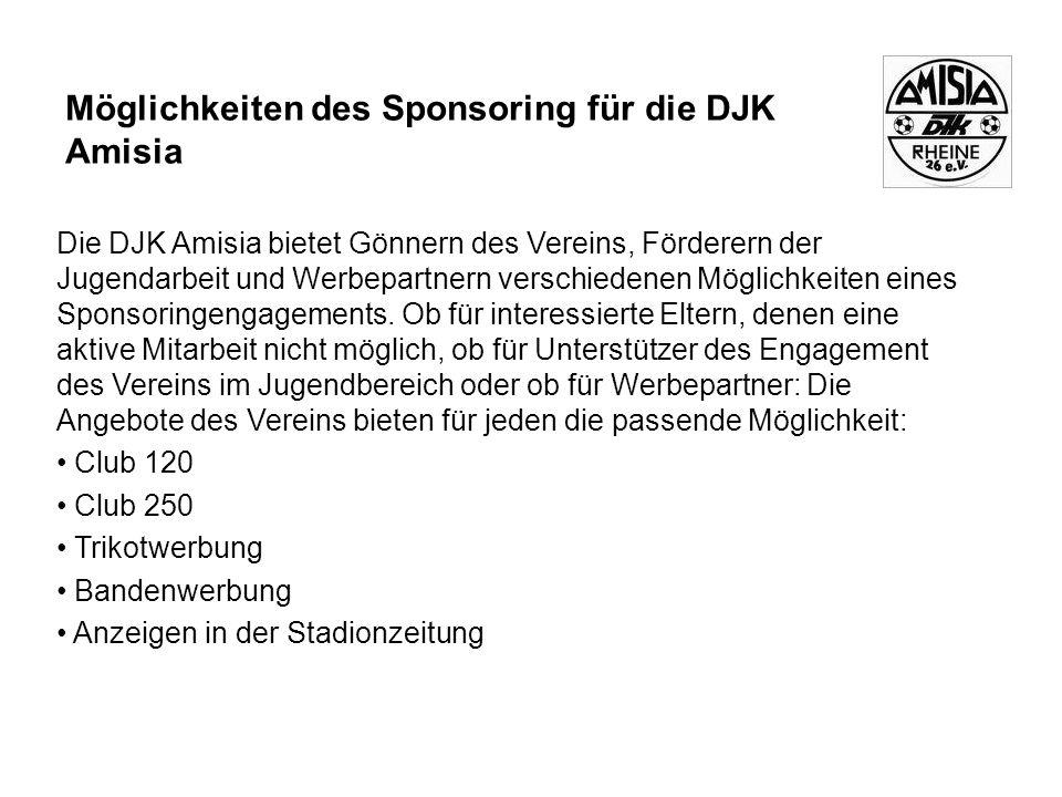 Möglichkeiten des Sponsoring für die DJK Amisia