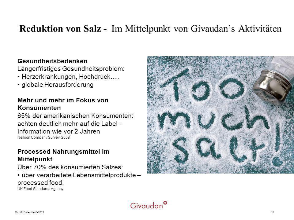 Reduktion von Salz - Im Mittelpunkt von Givaudan's Aktivitäten