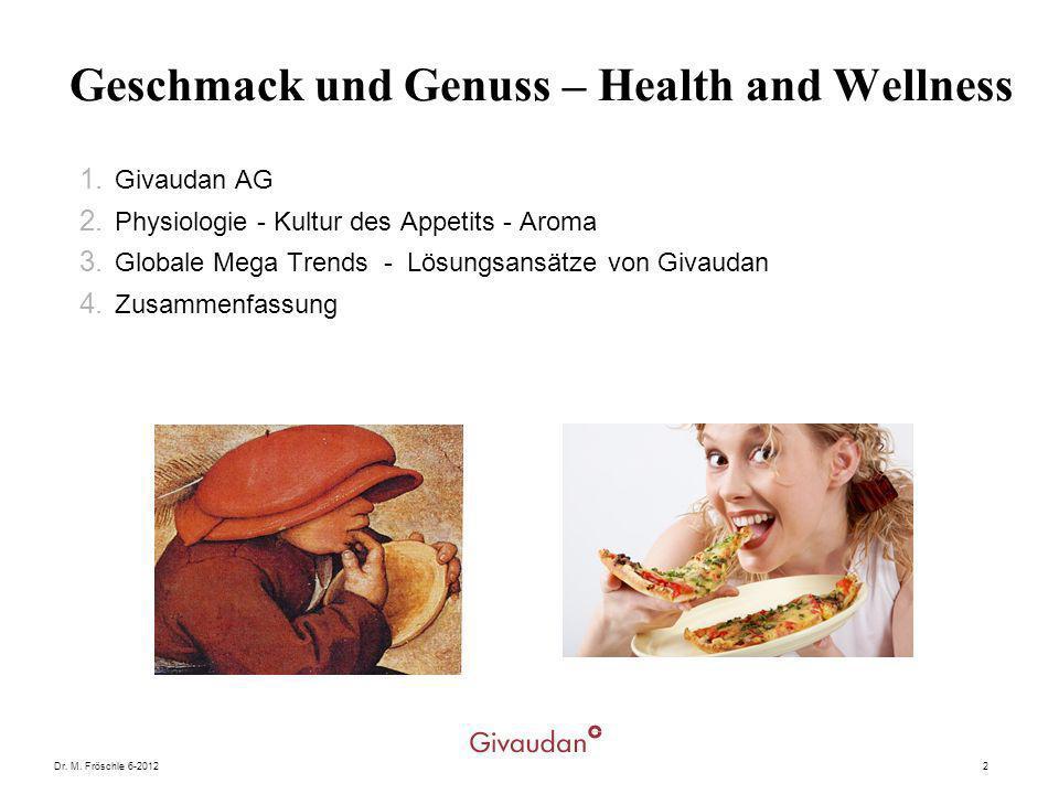 Geschmack und Genuss – Health and Wellness
