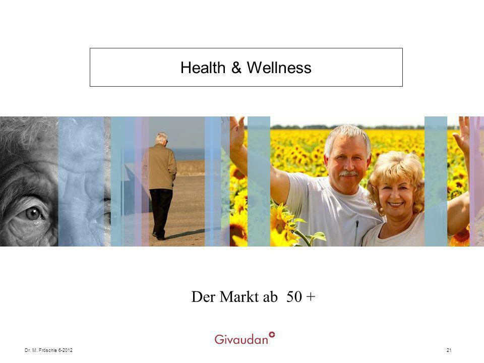 Health & Wellness Der Markt ab 50 + Dr. M. Fröschle 6-2012 21 Givaudan