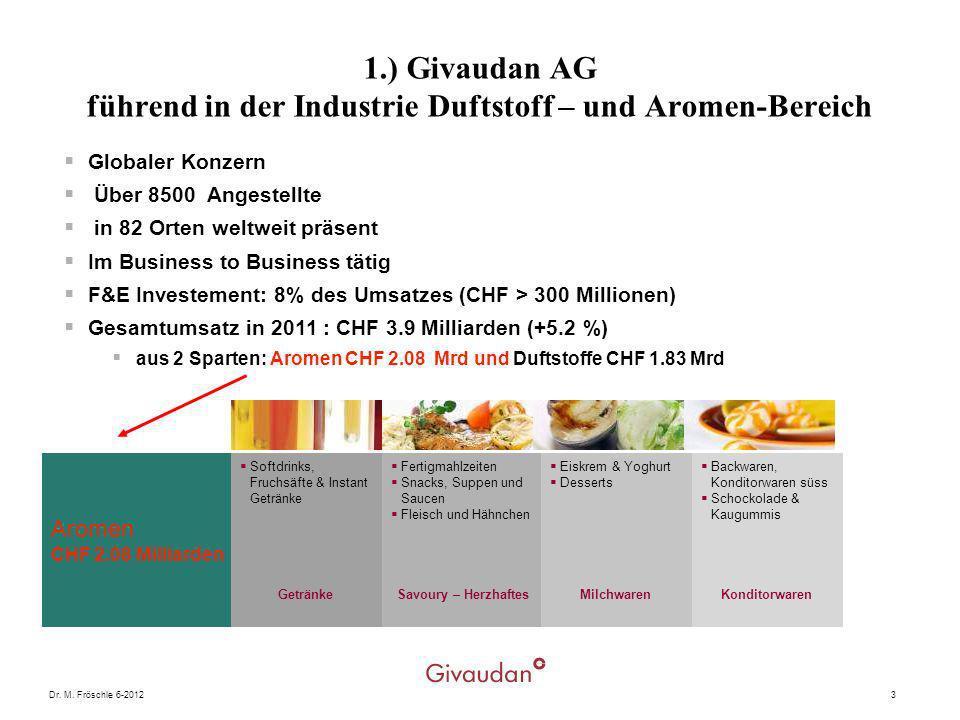 1.) Givaudan AG führend in der Industrie Duftstoff – und Aromen-Bereich