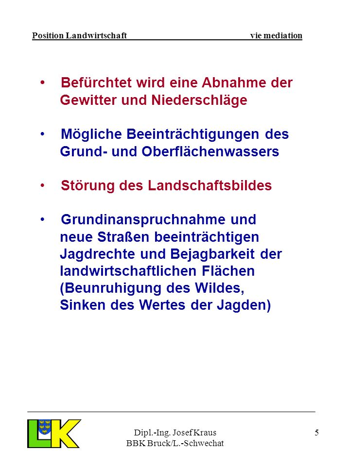 Dipl.-Ing. Josef Kraus BBK Bruck/L.-Schwechat