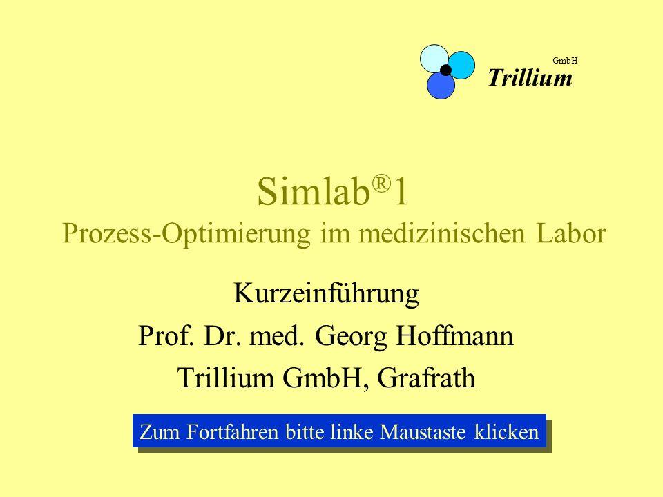 Simlab®1 Prozess-Optimierung im medizinischen Labor