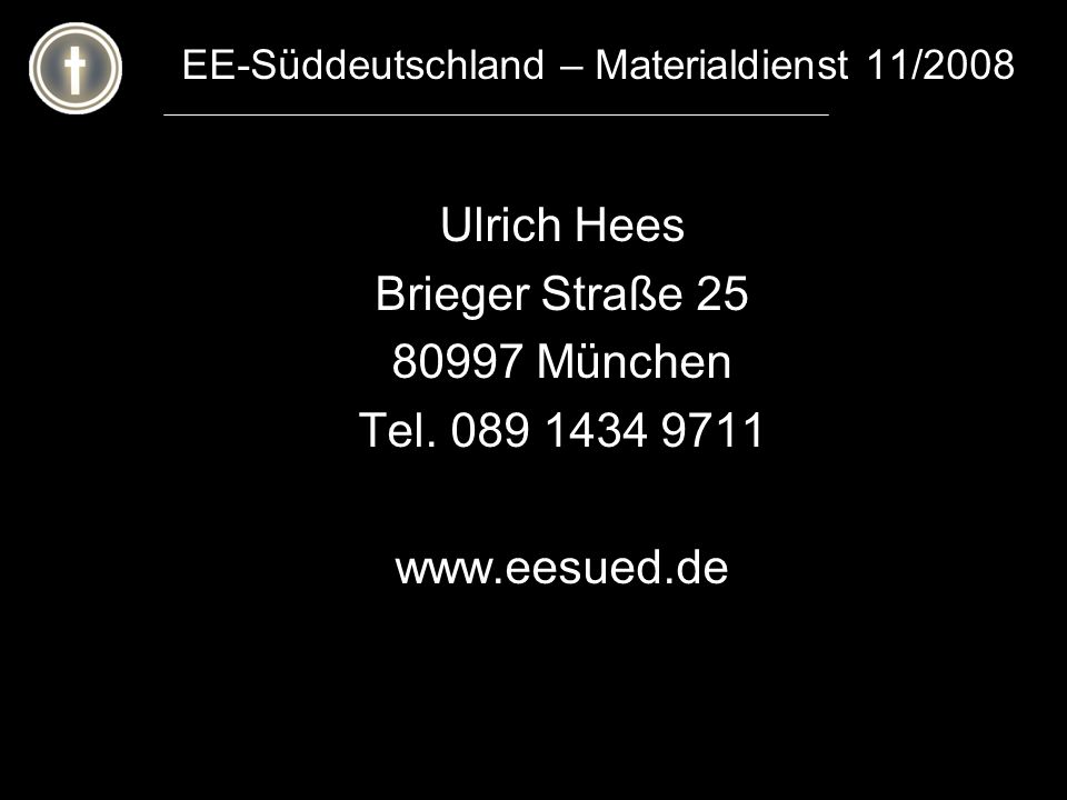 EE-Süddeutschland – Materialdienst 11/2008