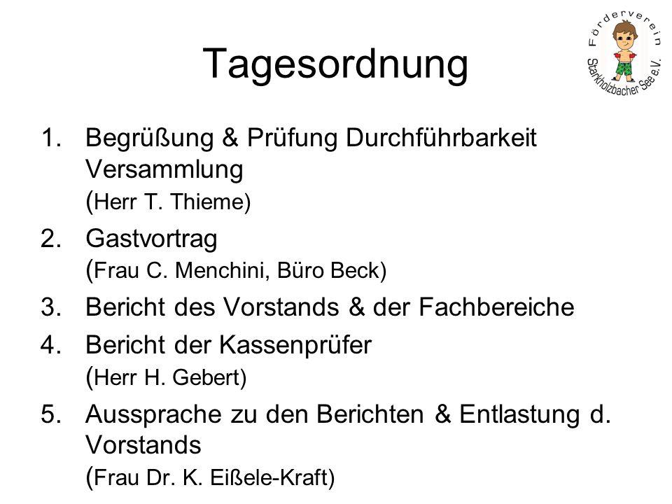 Tagesordnung Vorstellung des Vorschlags für den Haushaltsplan 2010 und Beschluss (Herr H. Hafner)
