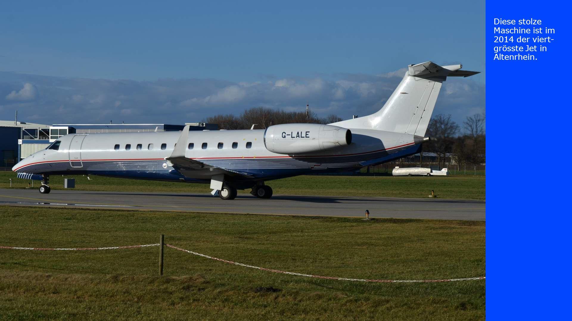 Diese stolze Maschine ist im 2014 der viert-grösste Jet in Altenrhein.