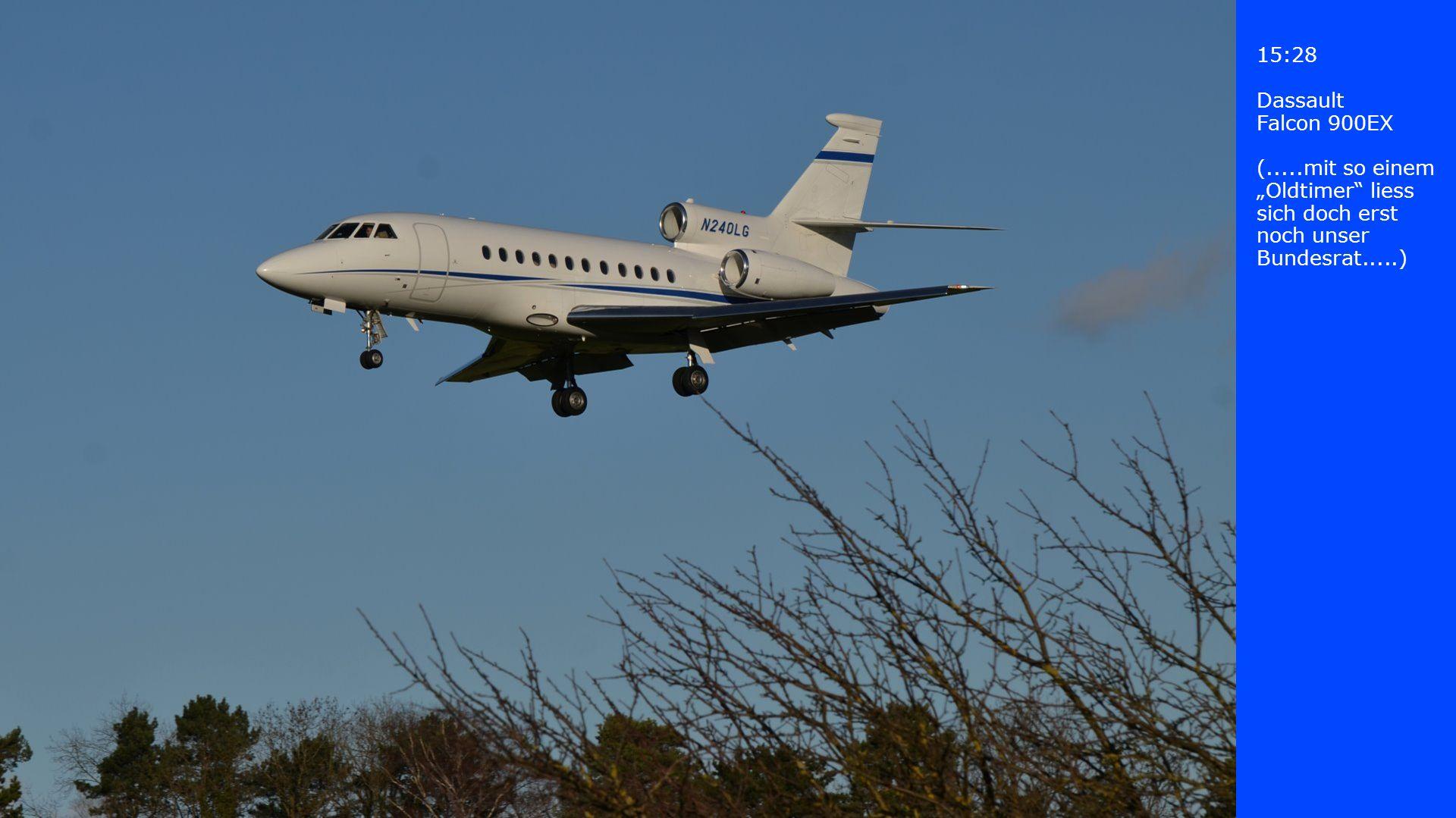 15:28 Dassault. Falcon 900EX.