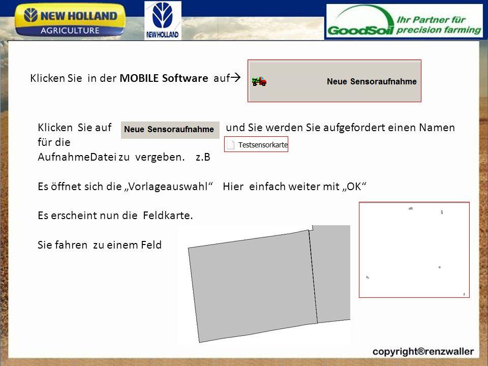Klicken Sie in der MOBILE Software auf