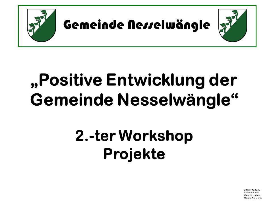 """""""Positive Entwicklung der Gemeinde Nesselwängle"""