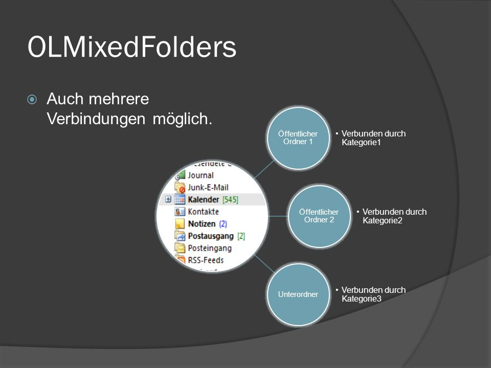 OLMixedFolders Auch mehrere Verbindungen möglich.