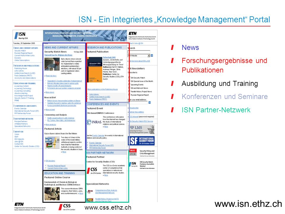 "ISN - Ein Integriertes ""Knowledge Management Portal"
