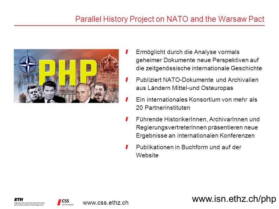 Parallel History Project on NATO and the Warsaw Pact