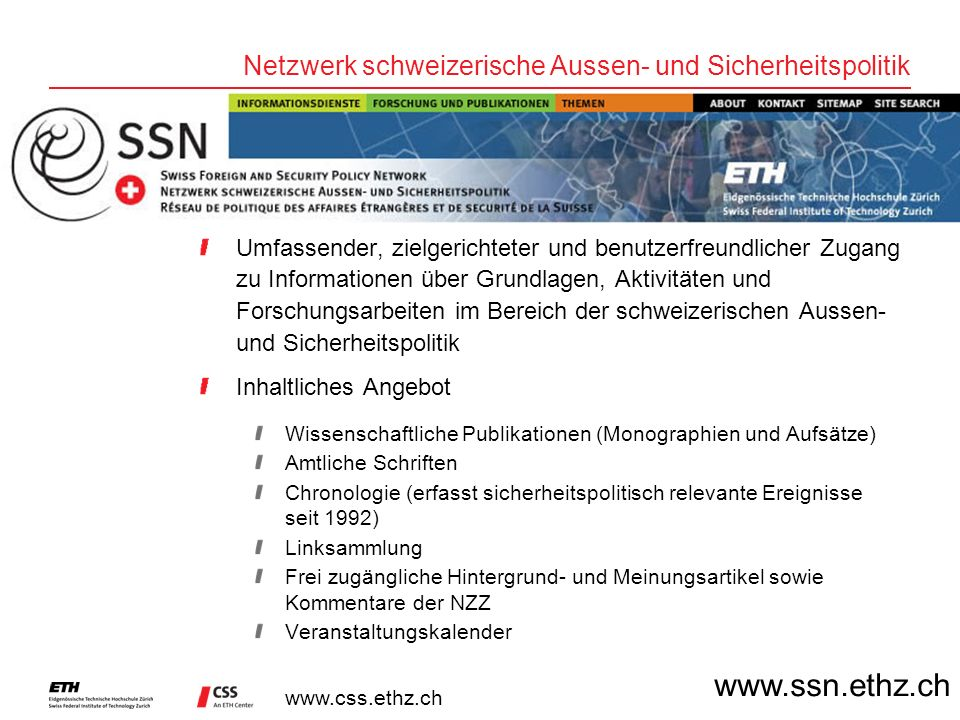 Netzwerk schweizerische Aussen- und Sicherheitspolitik