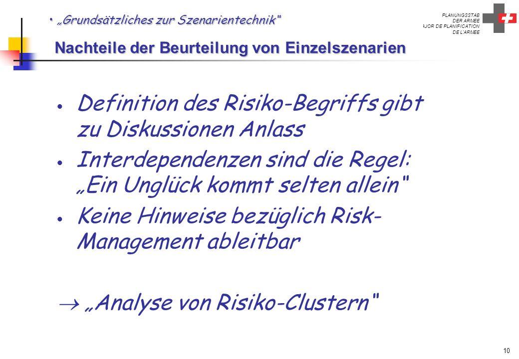 Definition des Risiko-Begriffs gibt zu Diskussionen Anlass