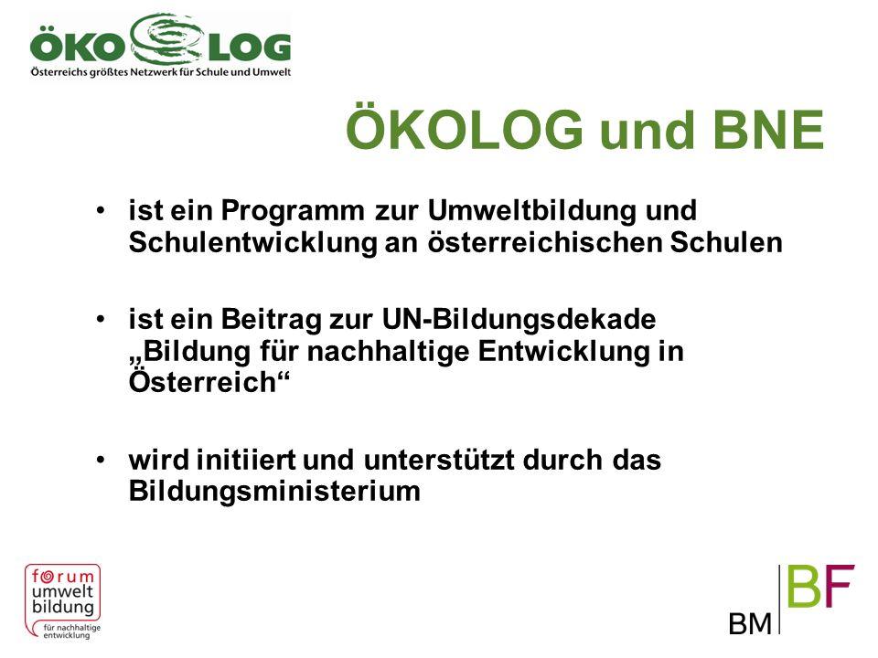 ÖKOLOG und BNE ist ein Programm zur Umweltbildung und Schulentwicklung an österreichischen Schulen.
