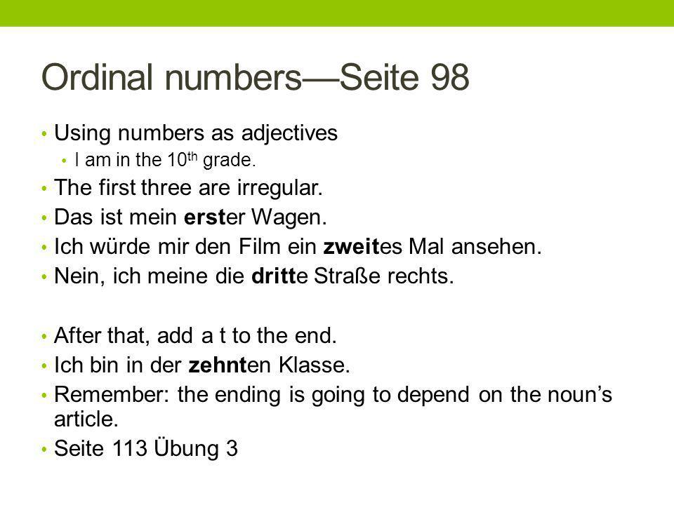 Ordinal numbers—Seite 98