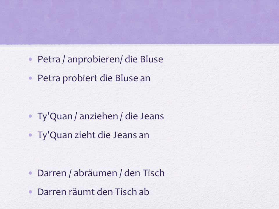 Petra / anprobieren/ die Bluse