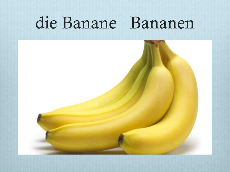 die Banane Bananen