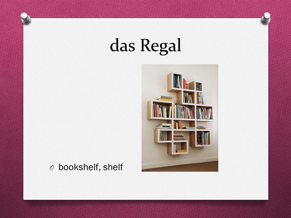 das Regal bookshelf, shelf