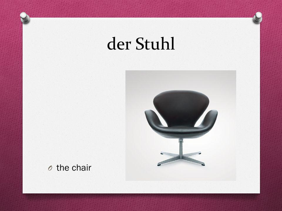 der Stuhl the chair