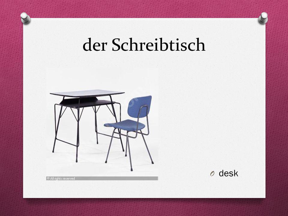 der Schreibtisch desk