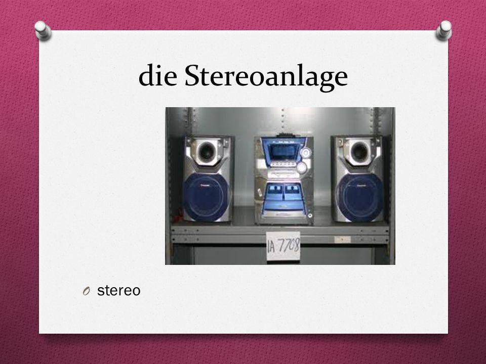 die Stereoanlage stereo