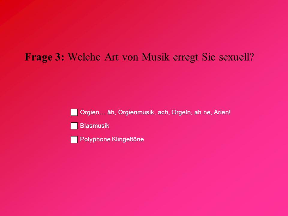 Frage 3: Welche Art von Musik erregt Sie sexuell