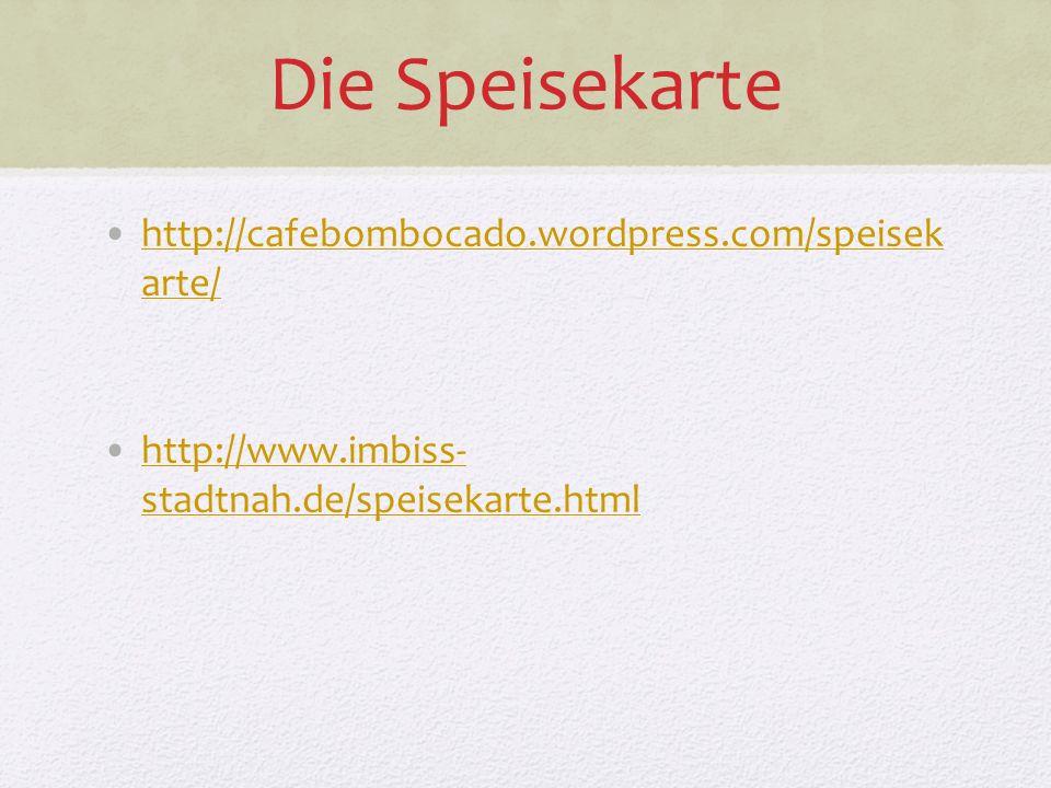 Die Speisekarte http://cafebombocado.wordpress.com/speisek arte/