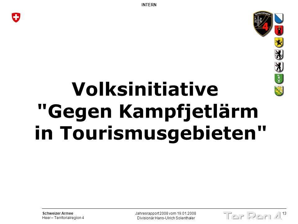 Volksinitiative Gegen Kampfjetlärm in Tourismusgebieten