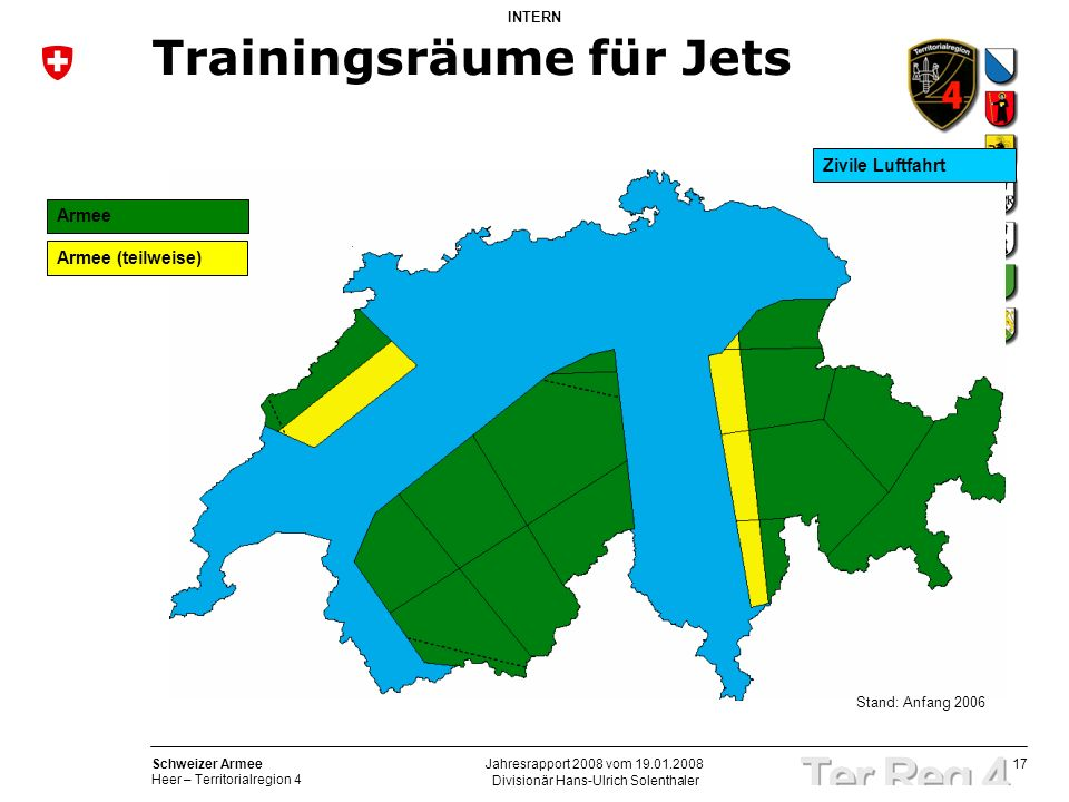 Trainingsräume für Jets
