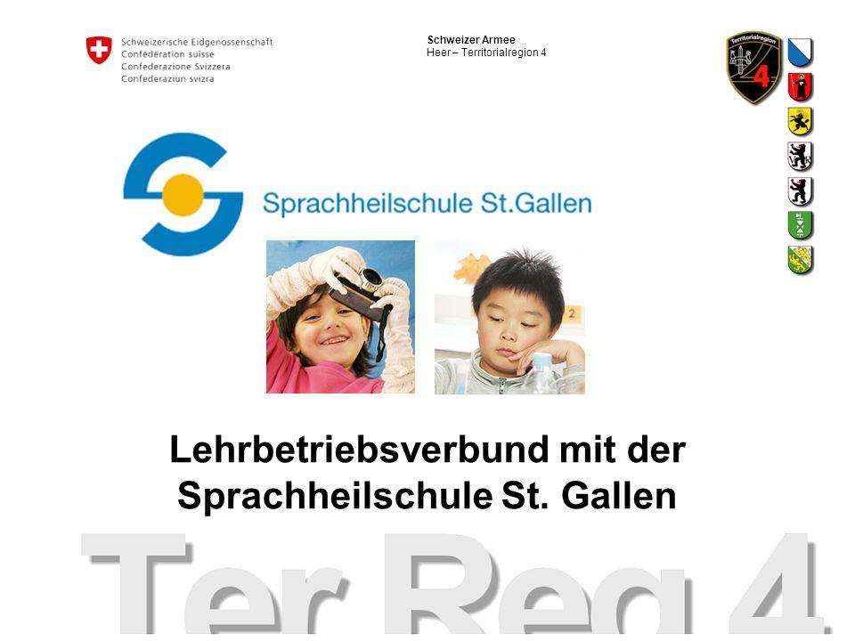 Lehrbetriebsverbund mit der Sprachheilschule St. Gallen