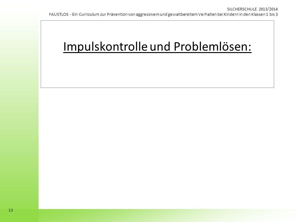 Impulskontrolle und Problemlösen: