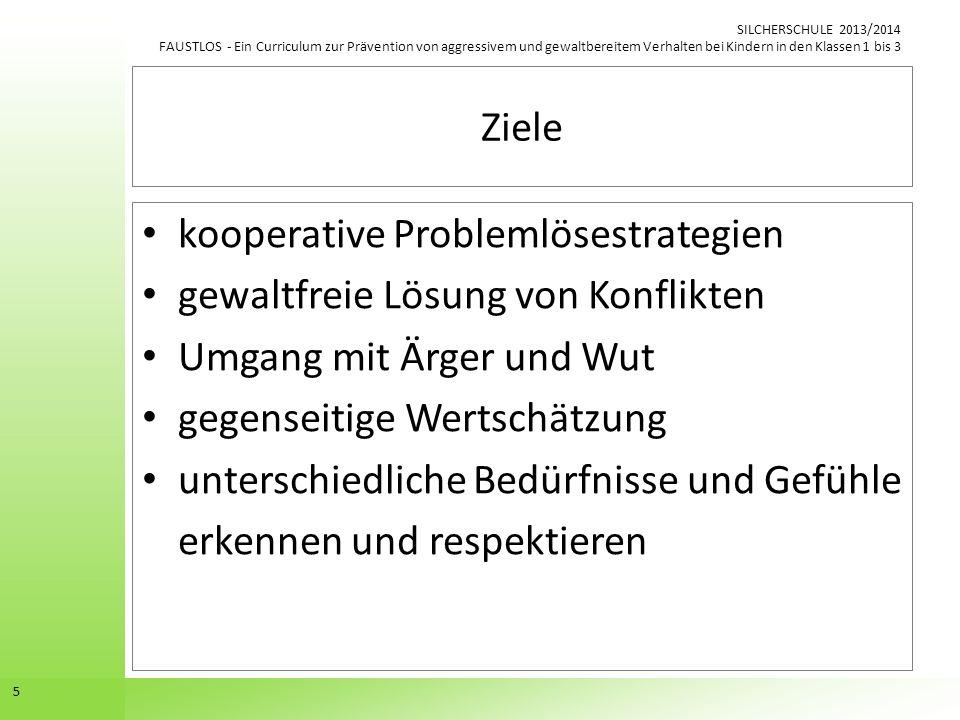 Ziele kooperative Problemlösestrategien. gewaltfreie Lösung von Konflikten. Umgang mit Ärger und Wut.