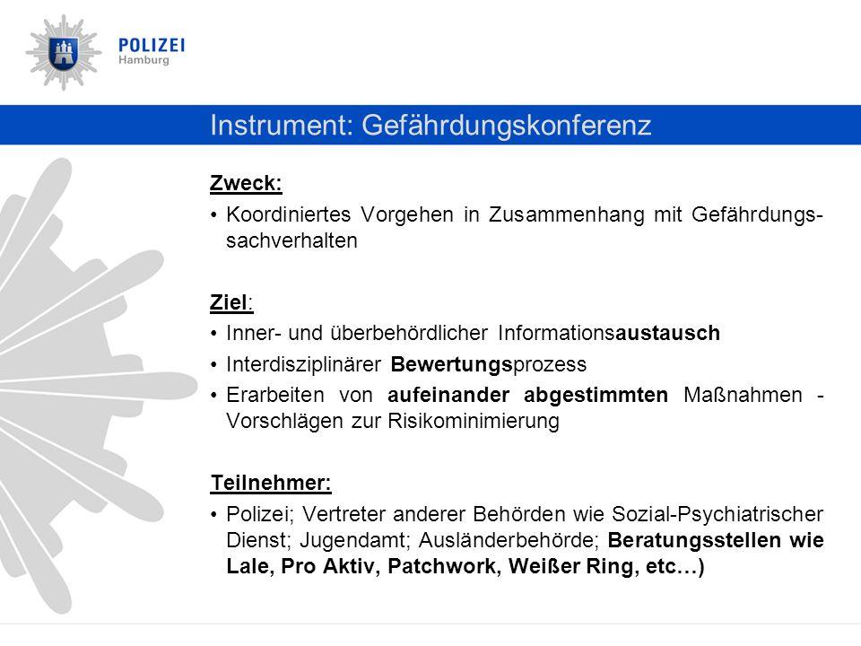 Instrument: Gefährdungskonferenz